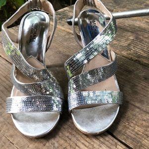 Micheal Kors | Silver Sequin Heels